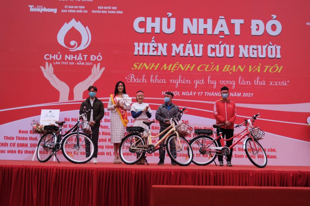 Wiibike tài trợ xe đạp cho các sinh viên tham gia hơn 10 lần hiến máu trong chương trình Ngày Chủ nhật đỏ – Đồng hành cùng Báo Tiền Phong và Đại sứ chương trình – Hoa hậu Đỗ Thị Hà. Tích cực tham gia các hoạt động cộng đồng ý nghĩa, các chương trình phát triển năng lượng sạch, bảo vệ môi trường, Wiibike mong muốn đạt được tầm nhìn về một xã hội di chuyển bằng các phương tiện không khí thải khắp các tỉnh thành phố Việt Nam, nâng cao chất lượng cuộc sống và sức khỏe người Việt.