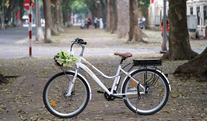 Một mẫu xe đạp trợ lực điện thời trang của Wiibike